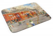 Parkhead Stadium 'Going to the Match' Fine Art Mouse Mat - Celtic Football Club
