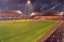 Boundary Park Stadium Fine Art Canvas Print - Oldham Athletic Football Club