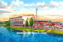 City Ground Stadium Fine Art Print - Nottingham Forest Football Club