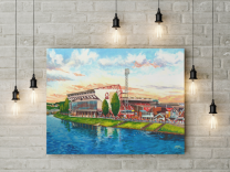 City Ground Stadium Fine Art Canvas Print - Nottingham Forest Football Club