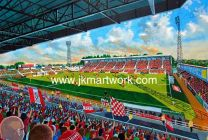 County Ground Stadium Fine Art Print - Swindon Town Football Club