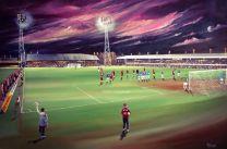 County Ground Stadium Fine Art Box Canvas Print - Northampton Town Football Club