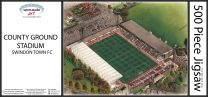 County Ground Stadia Fine Art Jigsaw Puzzle - Swindon Town Football Club