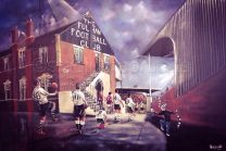 Craven Cottage Stadium 'Rolling Back The Years' Fine Art Box Canvas Print - Fulham Football Club