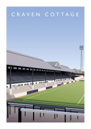 Craven Cottage Stadium 'Stevenage Road Stand' Illustrated Art Poster - Fulham Football Club