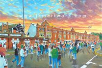 Craven Cottage Stadium 'Going to the Match' Fine Art Print - Fulham Football Club