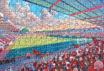Dean Court Stadium Fine Art Jigsaw Puzzle - AFC Bournemouth