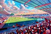 Dean Court Stadium Fine Art Print - AFC Bournemouth