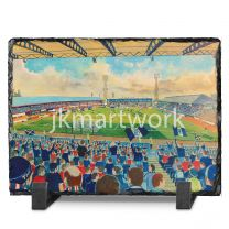 Dens Park Stadium Fine Art Slate Presentation - Dundee Football Club