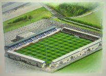 Deva Stadium Fine Art Original Watercolour Painting - Chester Football Club