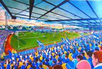 Palmerston Park Stadium Fine Art Print - Queen of the South Football Club