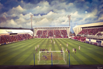 East End Park Stadium 'Dunfermline Athletic v Raith Rovers 2011' Fine Art Box Canvas - Dunfermline Athletic Football Club