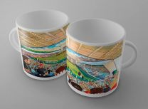 East End Park Stadium Fine Art Ceramic Mug - Dunfermline Athletic Football Club