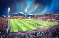 Easter Road Stadium Fine Art Box Canvas Print 'Hibernian v Napoli 1967' - Hibernian Football Club