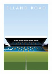 Elland Road Stadium Illustrated Art Poster - Leeds United Football Club