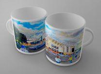 Elland Road Stadium 'Going to the Match' Fine Art Ceramic Mug - Leeds United Football Club