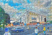 Elland Road(Going to the Match) Stadium Fine Art Jigsaw Puzzle - Leeds United Football Club