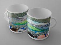 Elland Road Stadium Fine Art Ceramic Mug - Leeds United Football Club