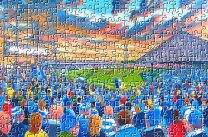 Elm Park Stadium Fine Art Jigsaw Puzzle - Reading Football Club