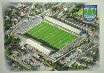 Elm Park Stadia Fine Art Original Watercolour Painting - Reading Football Club