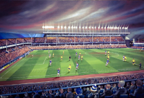 Goodison Park Stadium Fine Art Box Canvas Print 'Everton v Arsenal 1985' - Everton Football Club