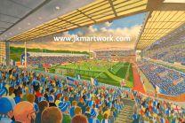 Ewood Park Stadium Fine Art Print - Blackburn Rovers Football Club