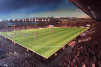 "St James' Park Stadium Fine Art 20 x 30"" Box Canvas Print - Exeter City Football Club"