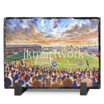 Brockville Stadium Fine Art Slate Presentation - Falkirk Football Club