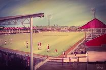 Fellows Park Stadium Fine Art Box Canvas Print - Walsall Football Club