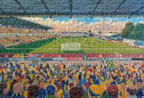 Field Mill Stadium Fine Art Jigsaw Puzzle - Mansfield Town Football Club