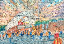 Firhill(Going to the Match) Stadium Fine Art Jigsaw Puzzle - Partick Thistle Football Club