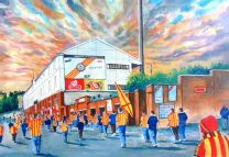 Fir Park(Going to the Match) Stadium Fine Art Print - Partick Thistle Football Club
