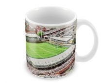 Franklins Gardens Stadia Fine Art Ceramic Mug - Northampton Saints Rugby Union