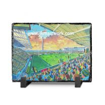Franklins Gardens Stadium Fine Art Slate Presentation - Northampton Saints Rugby Union