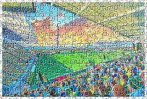 Franklin's Gardens Stadium Fine Art Jigsaw Puzzle - Northampton Saints Rugby Union