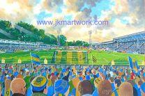 Gay Meadow Stadium Fine Art Print - Shrewsbury Town Football Club