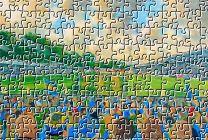 Gay Meadow Stadium Fine Art Jigsaw Puzzle - Shrewsbury Town Football Club
