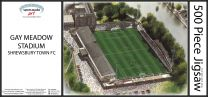 Gay Meadow Stadia Fine Art Jigsaw Puzzle - Shrewsbury Town Football Club