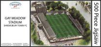 Gay Meadow Stadia Fine Art Jigsaw Puzzle - Shrewsbury Town Football Club