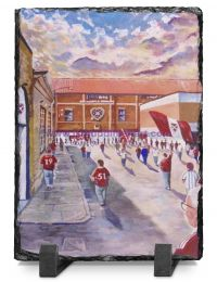 Tynecastle Park Stadium 'Going to the Match' Fine Art Slate Presentation - Heart of Midlothian Football Club