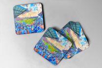 Goldstone Ground Stadium Fine Art Coasters Set - Brighton & Hove Albion Football Club