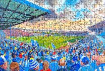 Goldstone Ground Stadium Fine Art Jigsaw Puzzle - Brighton & Hove Albion Football Club