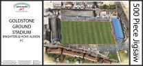 Goldstone Ground Stadia Fine Art Jigsaw Puzzle - Brighton & Hove Albion Football Club