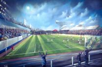 Cappielow Park Stadium Fine Art Box Canvas - Greenock Morton Football Club