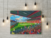 Gresty Road Stadium Fine Art Canvas Print - Crewe Alexandra Football Club