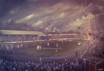The Shay Stadium Fine Art Box Canvas Print - Halifax Town Football Cub
