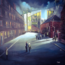 Easter Road Stadium 'Persevered Hibernian' Fine Art Canvas Print - Hibernian Football Club