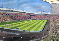 Hampden Park Stadium Fine Art Canvas Print 'Hibs v Rangers Scottish Cup Final 2016' - Hibernian Football Club