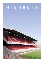 Highbury Stadium 'West Stand' Art Illustration Poster - Arsenal Football Club