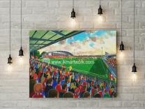 Highbury Stadium Fine Art Canvas Print - Fleetwood Town Football CLub